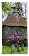 Spring At The Crispell Memorial French Church Beach Sheet