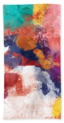 Spring Crush 3- Abstract Art By Linda Woods Beach Sheet