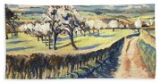 Spring In The Bellet Fruit Orchard Beach Sheet