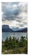 St Mary's Lake And Wild Goose Island Beach Towel by Belinda Greb