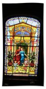 Stained Glass At Moody Mansion Beach Towel