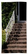 Stairs Leading To The Entrance Of A House Beach Towel