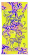 Stamps And Stallions Beach Towel
