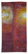 Staring Into The Suns Original Painting Beach Towel