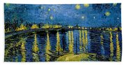 Starry Night - Digital Remastered Edition Beach Towel