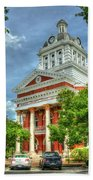 Stately Elegance Morgan County Court House Madison Georgia Art Beach Towel