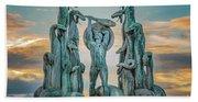 Statue Of Heracles The Hero Beach Towel