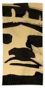 Statue Of Liberty In Dark Sepia Beach Towel