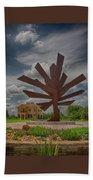 Steel Palm - Peace River Botanical And Sculpture Gardens Beach Towel