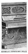 Steinway Piano, 1878 Beach Towel