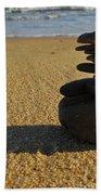 Stone Balance On The Beach Beach Towel