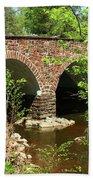 Stone Bridge At The Eastern Entrance Of The Manassas Battlefield  Beach Towel