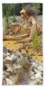 Stone Stacking Beach Towel