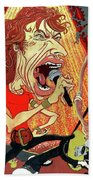 Stones On Stage - The Rolling Stones Beach Towel