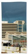 Storm Over Union Station Beach Towel
