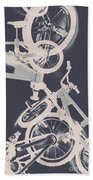 Stunt Bike Trickery Beach Towel