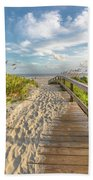 Sullivan's Island Station 18 1/2 Fall Day Beach Towel by Donnie Whitaker