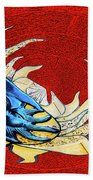 Sun And Moon On Red 2 Beach Sheet