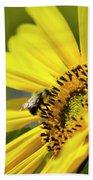 Sunflower And Bee Beach Towel