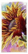 Sunflower In The Sun Beach Towel by Darren Cannell