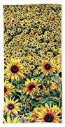 Sunflowers In Kansas Beach Towel