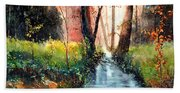 Sunlight Colorful Path Beach Towel