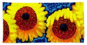 Sunlover Quintet  Beach Towel