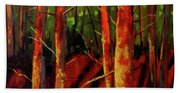 Sunny Forest Landscape Beach Towel