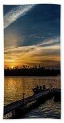 Sunrise Dog Lake Beach Towel