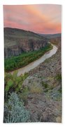 Sunrise In Big Bend Along The Hot Springs Trail 1 Beach Towel