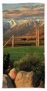 Sunrise In Carson Valley Beach Towel