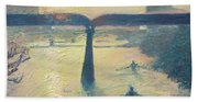 Sunrise Rowers On Lady Bird Lake Austin Beach Sheet