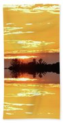 Sunset Behind The Tree Tops Two  Beach Towel