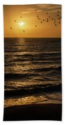 Sunrise Birds North Carolina Beach Towel