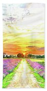 Sunset - Colors Of Nature Beach Towel