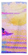 Sunset Over The Sea - Digital Remastered Edition Beach Towel