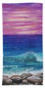 Sunset Wave Beach Towel