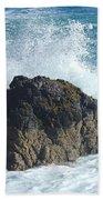 Surf On Rocks Beach Towel