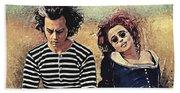 Sweeney Todd And Mrs. Lovett Beach Towel