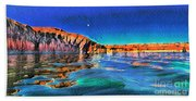 Swells And Reflections Lake Powell Beach Towel