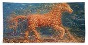 Swirly Horse 1 Beach Sheet