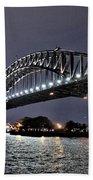 Sydney Harbor Bridge Night View Beach Sheet