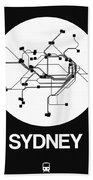 Sydney White Subway Map Beach Towel