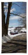 Take A Ride Down To The Jenne Farm Beach Towel by Jeff Folger