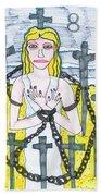 Tarot Of The Younger Self Eight Of Swords Beach Sheet