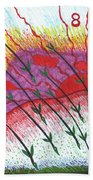 Tarot Of The Younger Self Eight Of Wands Beach Towel