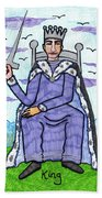 Tarot Of The Younger Self King Of Swords Beach Towel