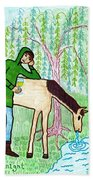 Tarot Of The Younger Self Knight Of Cups Beach Towel