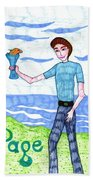 Tarot Of The Younger Self Page Of Cups Beach Sheet