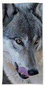 Tasty Wolf Beach Towel
